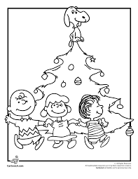 A Charlie Brown Christmas Coloring Pages Tree Page With Snoopy Lucy