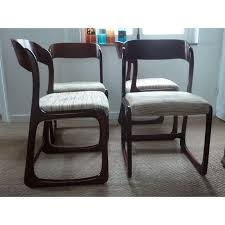 chaise traineau baumann suite de 4 chaises traineau baumann 1950 design market
