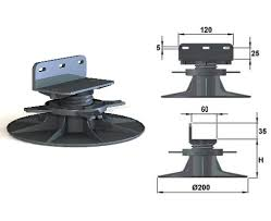 plot reglable pour terrasse bois plot réglable de 105 à 170 mm pour terrasse bois bugal verindal