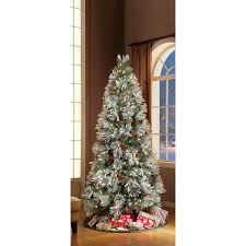 Pre Lit Pencil Christmas Tree Walmart by Holiday Time 7 5ft Pre Lit Mountain Frost Pine Tree Walmart Com