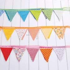Personalised 9ft Fabric Bunting Pennant Flags Banner Wedding Christmas Party
