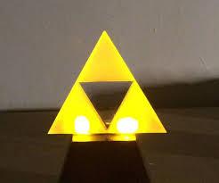 Zelda Triforce Lamp Amazon by Make A Glowing L E D Triforce 5 Steps