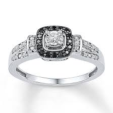 Kay Jewelers Diamond Promise Ring 1 5 Ct Tw Black White Sterling Silver Rings