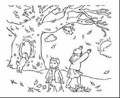 Magnificent Fall Landscape Coloring Page With Free Printable Pages And