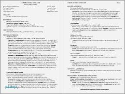 Resume Examples For Child Care Worker Fresh 0d Good