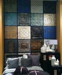 cool idea for a bedroom faux tin wall tiles from homedepot