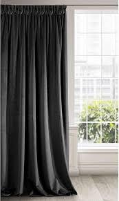 eurofirany vorhang velvet schwarz samt 1 stk weich kräuselband edel hochwertig schlafzimmer wohnzimmer lounge stoff 140x270cm