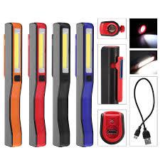 2 En 1 Acampar LED Mazorca USB Recargable Luz De Inspección De Trabajo De La Antorcha De La Lámpara Magnética