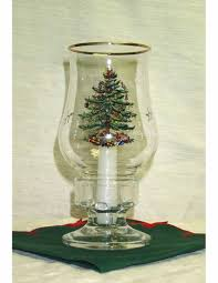 Spode Christmas Tree Gold by Spode Christmas Tree Glass Hurricane Lamp Withcandle U2014 Qvc Com