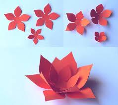 How To Make Orange Paper Flowers DIY Printable Patterns