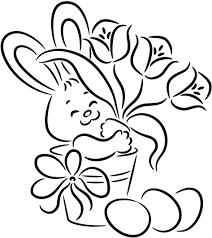 Easter Bunny Coloring Pages Printable Archives Gallery Ideas