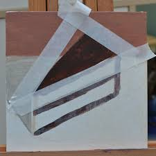 """Project 14 in Little Ways to Learn Acrylics 50 small painting projects """" by Mark Daniel Nelson was Rendering objects with simple shapes Slice of cake"""