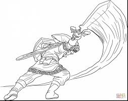 Astounding Legend Of Zelda Coloring Pages