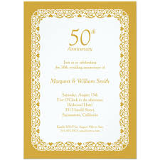 Elegant Lace Wedding Anniversary Invitation Choose Your Own Colors