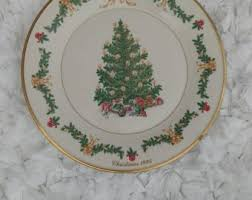 Lenox Christmas Tree Around The World 1995 Austria Decorated Plate 1075 Made In USA
