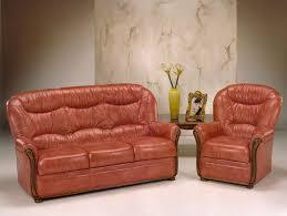 canape cuir rustique canapé 3 places et fauteuil en cuir vieilli photo 9 10