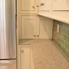 Small Arts And Crafts U Shaped Linoleum Floor Enclosed Kitchen Photo In Other With A