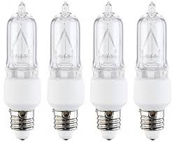 4 pcs of 50 watt e11 base mini candelabra halogen light bulb 130