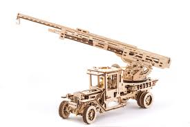 100 Fire Truck Model Kits UGears With Ladder Mechanical Wooden Model KIT 3D Etsy