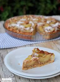 birnen tarte mit mandel amaretto füllung auf marzipan mürbeteig