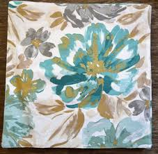nicole miller bright floral square cotton placemats turquoise gold