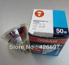 osram decostar 51 titan 46870 fl 12v 50w bulb 24 degree mr16
