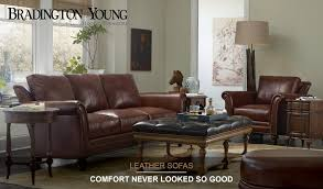 Bradington Young Leather Sofa Recliner by Bradington Young