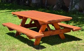 wooden picnic table with benches 8 furniture design on wooden
