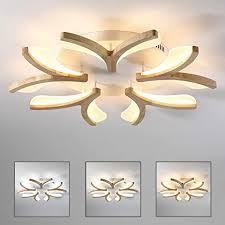 blume form led deckenleuchte holz ultradünne dimmbar deckenle 5 flammig modern dekor wohnzimmer le weiß acryl schirm schlafzimmer