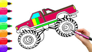 How To Draw Rainbow Monster Truck Coloring Pages For Kids | Art ... Free Printable Monster Truck Coloring Pages For Kids Boys Download Best On Trucks 2081778 Printables Pictures To Color Maxd Coloring Page For Download Big Click The Bulldozer Energy Mud New Kn Max D Kids Transportation Iron Man 17 Ford F150 Page