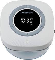 medion p66096 duschradio mit bluetooth badradio ukw radio saugnapf led display ipx6 wasserdicht integrierter akku weiß