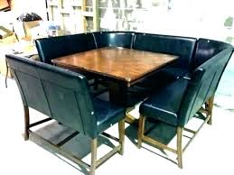 Dining Booth Set Room Seating Table Height Style Attractive Retro Line Diner Corner