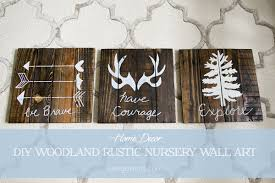 Boy Nursery Woodland Rustic Wall Art Decor