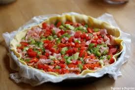 cuisiner les poivrons rouges recette de tarte aux poivrons
