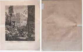 Husky Tile Saw Thd950l Motor by Beer Street And Gin Lane Original Hogarth Prints Engravings 1822