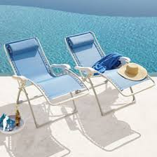 Blue Mesh Recliner Pool Chairs