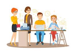 bureau entrepreneur caractères d affaires fonctionnant dans le bureau entrepreneur de