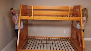 bunk beds woodworking plans for bunk beds single over queen bunk