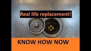 Install Sink Strainer Basket by Replace Kitchen Basket Strainer Youtube
