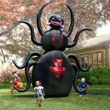 Outdoor Halloween Decorations Amazon by The 12 U0027 Inflatable Animated Spider Hammacher Schlemmer