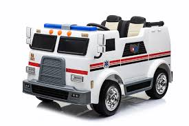 100 Kids Electric Truck Children 12V Electric Fire Truck Car For Drivable Toy Vehicle