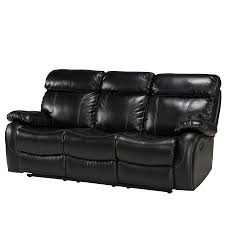 Decoro Leather Sofa With Hardwood Frame by Primo International Penache Leather Upholstered Recliner Sofa