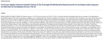 HomeDepot 2X Membership Rewards via Amex fers Are We There