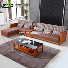Small Wooden Sofa Set Designs Suitable With Sleek Simple