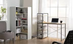 bureau bibliothèque intégré bureau avec une bibliothèque intégrée de 4 tablettes de homestar en