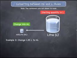 100 milliliters to liters converting between ml and l