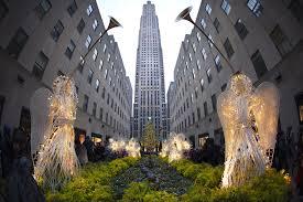 Rockefeller Plaza Christmas Tree 2014 by Fire Injures 6 At Rockefeller Center