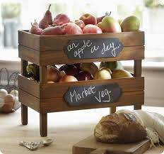 DIY Stackable Kitchen Crates For Produce With Chalk