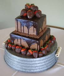 Grooms Cake With Chocolate Glaze
