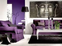 wohnzimmer ideen wand lila hause modernes design deko